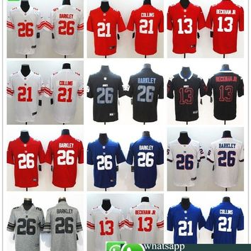 Men New York Saquon Barkley Odell Beckham Jr Landon Collins Vapor Untouchable Limited Player Jersey