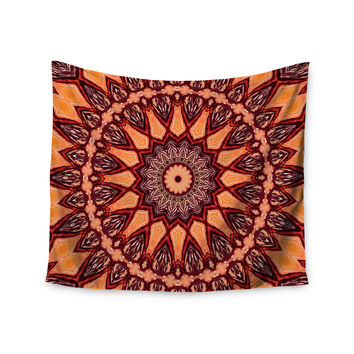 "Iris Lehnhardt ""Colors of Africa"" Brown Orange Wall Tapestry"