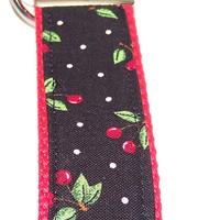 Cherries, Key Fob, Key Ring, Wristlet, Key Chain