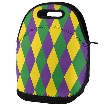 Mardi Gras Jester Pattern Lunch Tote Bag
