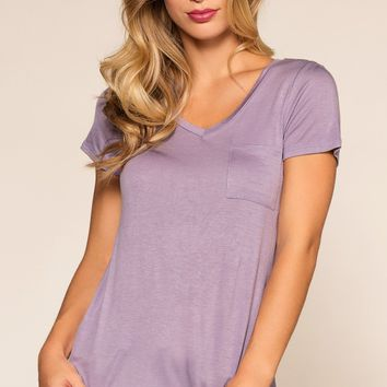 Kaylee Basic Top - Lavender