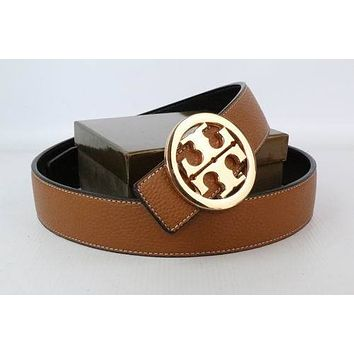 Tory Burch Woman Men Fashion Smooth Buckle Belt Leather Belt