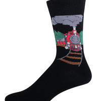 Socksmith Mens Train Print Crew Socks