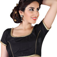 Classy Black Ready-Made Saree Blouse X-144S