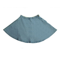 ROMWE High-waisted A-line Light-blue Denim Skirt