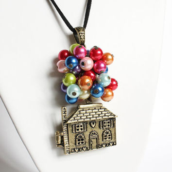 Flying House Long Necklace
