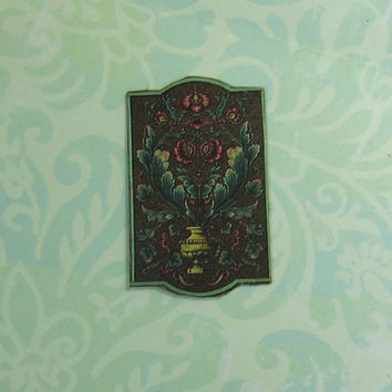 Dollhouse Miniature Victorian Floral Wall Plaque
