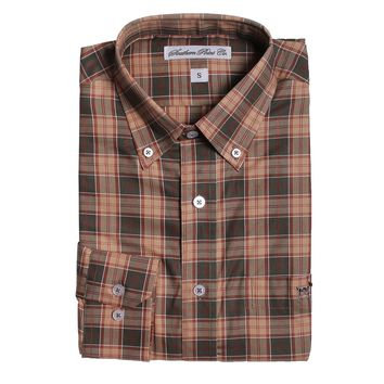 The Hadley Shirt in Tan and Green Plaid by Southern Point - FINAL SALE