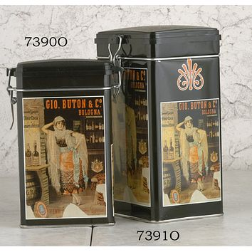 Vintage Theme Decorative Canister with Seal Tight Lid