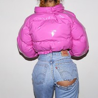 (Pre-order) Hot pink pvc bubble