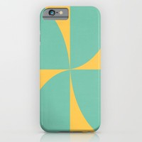 mod petals - teal and yellow iPhone & iPod Case by Her Art