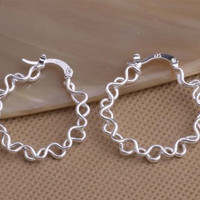 925 STERLING SILVER LOOP EARRINGS