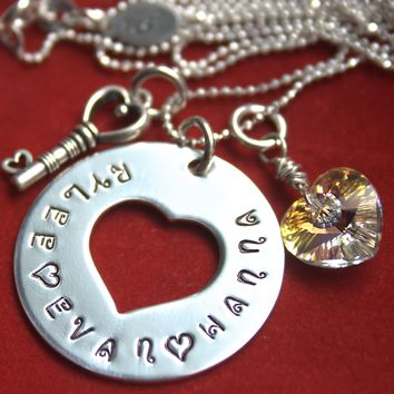 Key to My Heart Personalized Necklace