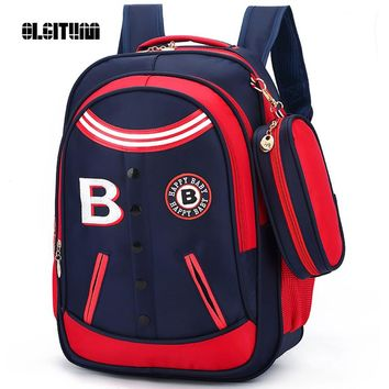 OLGITUM 2017 British wind boys and girls school bags 1 - 3 - 4 - 6 grade reduction ridge backpack fashion childen bags SC045
