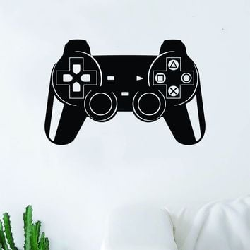 Gamer Controller Video Game Decal Sticker Wall Vinyl Decor Art Home Bedroom Living Room Retro Classic Nerd Teen Funny