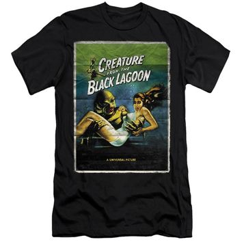 Creature from the Black Lagoon Canvas T-Shirt Movie Poster Black