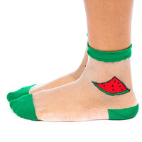 Watermelon Mesh Socks