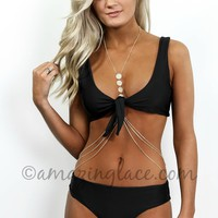 Sunset Strip Black Tie Bikini Set