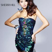 2836  Sparkling Mini Dress by Sherri Hill Bravura Pageant, Prom, Bridal and Formalwear Boutique - Prom 2009 Superstore