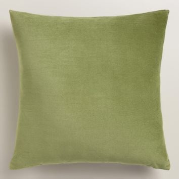 Iguana Green Velvet Throw Pillow