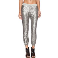 Silver Sequined Pant
