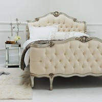 Willows Shell Carved Bed - Silver | Sweetpea and Willow