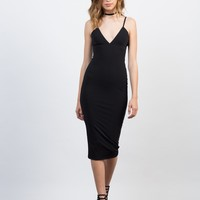 Midi Black Party Dress