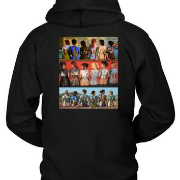 DCCKG72 Pink Floyd Art All Of Allbums In Back Hoodie Two Sided