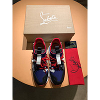 CL Christian Louboutin Men's Leather Fashion Sport Sneakers Shoes