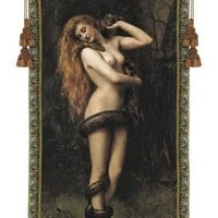 Lilith Nude Wrapped in Snake Tapestry - 6791