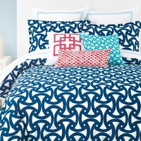 Trina Turk Santorini Blue Duvet Cover Set - Queen