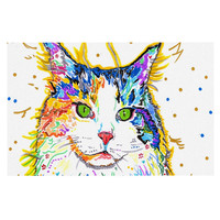 "Rebecca Fischer ""Royal"" Rainbow Cat Decorative Door Mat"