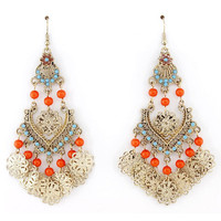 Exquisite Gold-tone Bohemia Style Long Dangle Drop Earrings