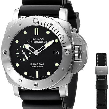 Panerai Men's M00305 Luminor Black Dial Watch