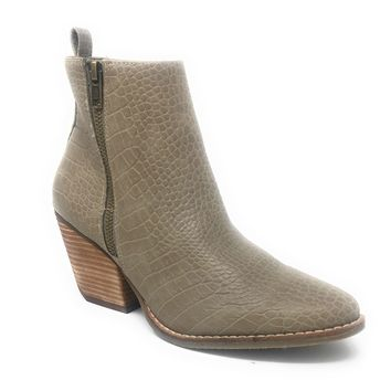 Coconuts by Matisse Marga Taupe Stacked Heel Booties