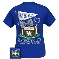 UK Kentucky Wildcats Big Blue Lexington Treasure Pearls Bow T-Shirt