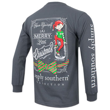 "Simply Southern Gray ""Elf"" Long Sleeve"