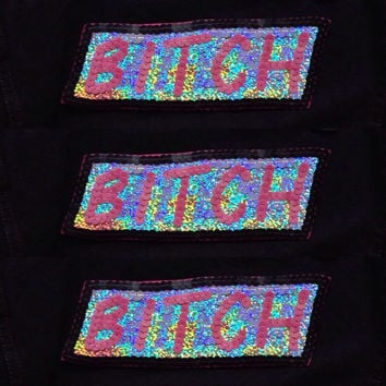 Feminist Bitch Hand Embroidered Patch For Denim Jackets And Clothing Customisation