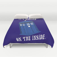 Doctor Who TARDIS Duvet Cover by Midnight House Elves | Society6