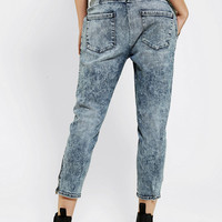 THVM Acid-Wash Cropped Trouser Jean - Urban Outfitters