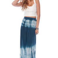 Dye Hard Maxi Skirt in Teal :: tobi