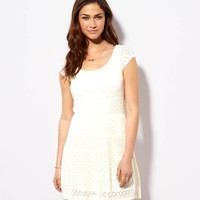 AEO Women's Short Sleeve Crocheted S