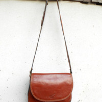 Vintage KATANA PARIS Leather Purse , Shoulder , Crossbody Bag // Small