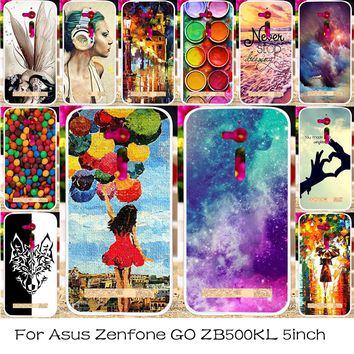TAOYUNXI Silicone Plastic Mobile Phone Case For ASUS ZenFone Go ZB500KL ZB500KG 5.0 inch Bag Shell Cover Skin  ZB500KL Case