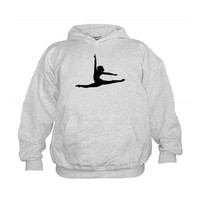 Ballet Dancer Ballerina Kids Hoodie on CafePress.com