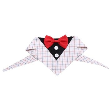 Pet Suit Lattice Tie  Tail Trends Formal Dog Tuxedo Dog Bandana with Bow Tie Neck Tie Designs