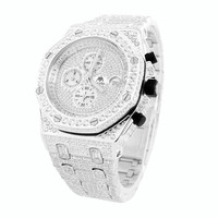 Mens Iced Out  Joe Rodeo Jojino Master Of Bling AP-01 Watch