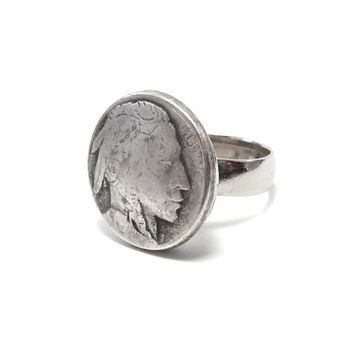 Indian Head / Buffalo Nickel Ring
