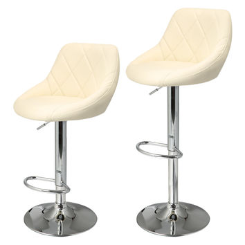 Swivel Bar Stool Stainless Steel  Pneumatic Stent Chair