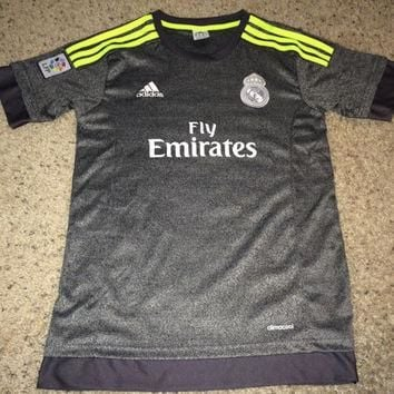 Sale!! Vintage Adidas REAL MADRID FC Soccer Jersey #7 Christiano Ronaldo Football Shir